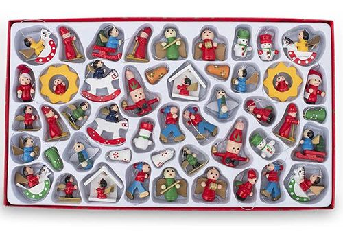 BestPysanky Miniature Wooden Christmas Ornaments