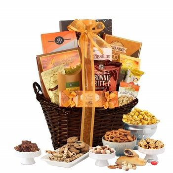 Cookies, sweets, chocolate, or other things in hamper