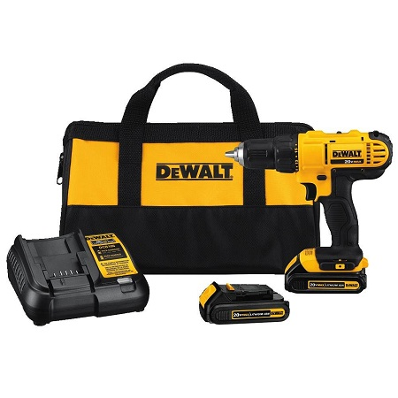 Dewalt DCD771C2 20V MAX Cordless Lithium-Ion 1/2-inch Compact Drill Driver Kit