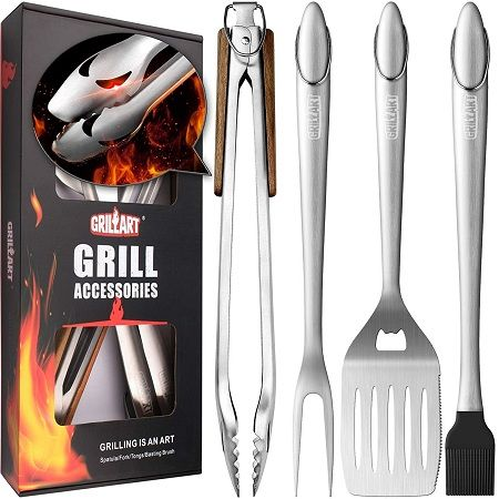 GRILLART Heavy Duty BBQ Grill Tools Set