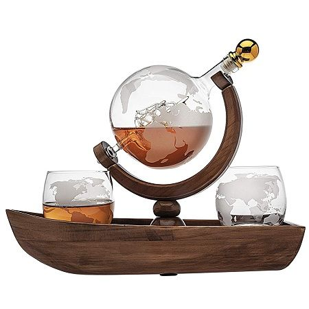 Godinger Whiskey Decanter Globe Set