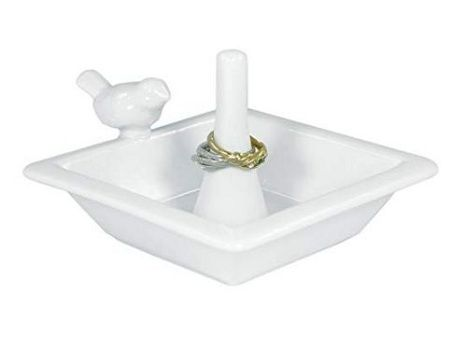 NOMA Prestige White Ceramic Ring Dish Holder