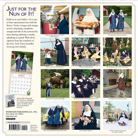 Nuns Having Fun Wall Calendar 2020 Calendar