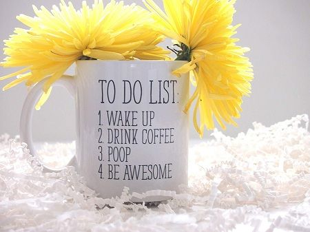 To Do List Wake Up Drink Coffee Mug