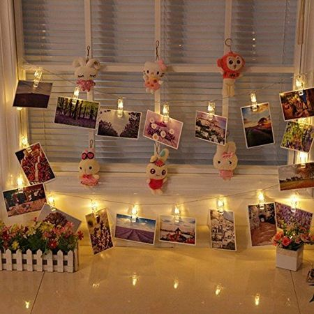 Weepong 40 LED Photo Clips Lights